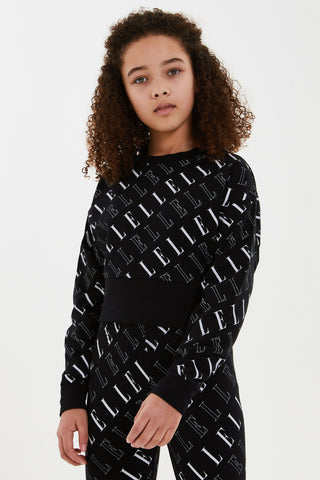 Elle Girls Oversized Logo Jumper Funky kids