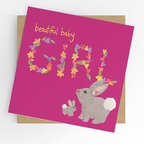Under The Willow Tree Rabbit Baby Girl Card funky kids