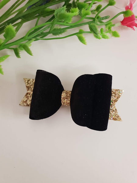 ONCE UPON A BOW GIRLS BLACK VELVET BOW