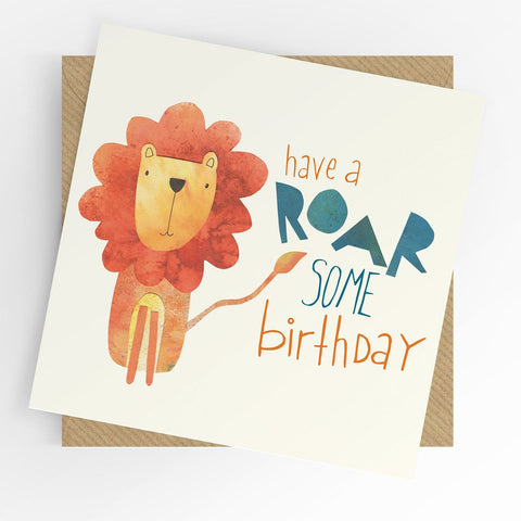 Under The Willow Tree Roarsome Birthday Card funky kids