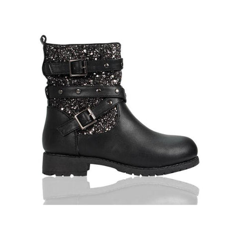 Girls Black Sparkle Boots funky kids - Magherafelt