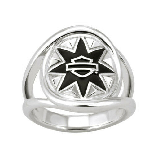 Women's Harley-Davidson Tribal Rays Double Twist Sterling Silver Ring
