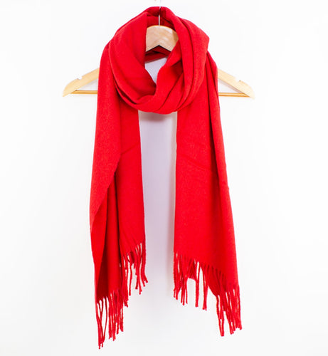 Essential Wool Scarf Red