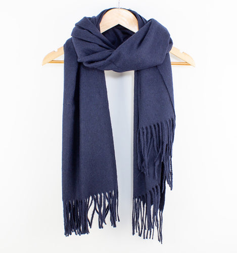 Essential Wool Scarf Navy