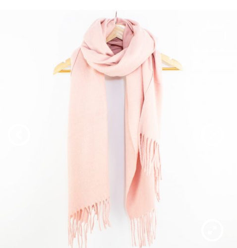 Essential Wool Scarf Pink