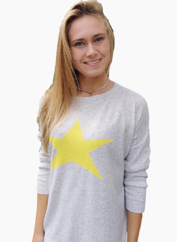 Cashmere Jumper Star Yellow