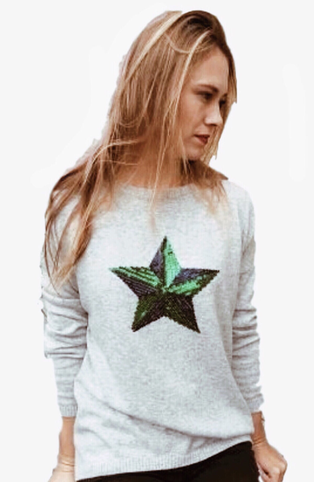 Cashmere Jumper Sequinned Star