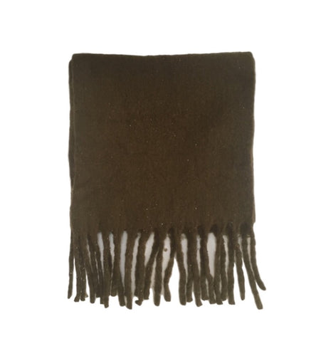 Large Soft Knit Scarf Khaki