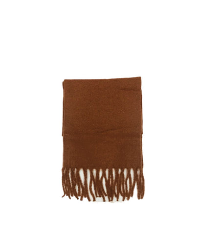 Large Soft Knit Scarf Rust