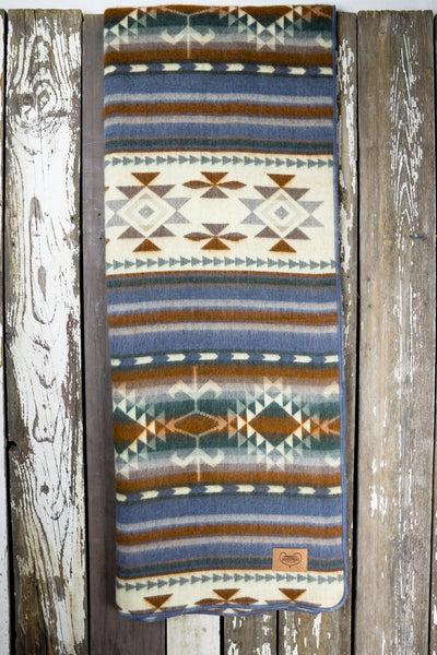 Aztec Double Blanket - Dusk Rose