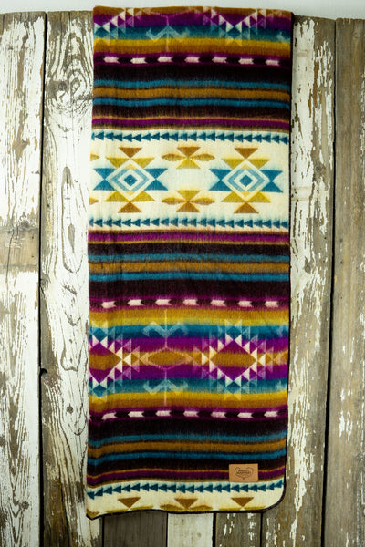 Aztec Double Blanket - Colourful Minds
