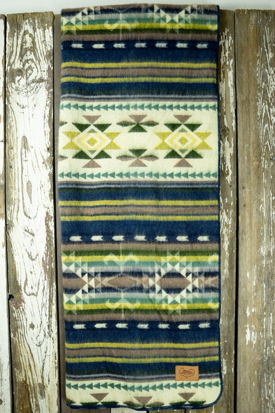Aztec Double Blanket - Shape of Water