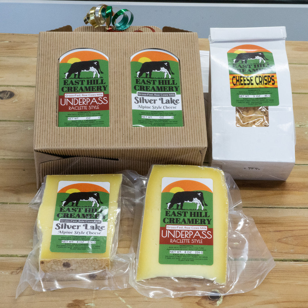 East Hill Creamery 2 Cheese 1 Cheese Crisp Gift Box