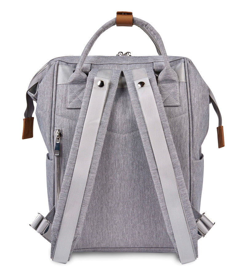 Mani Backpack Changing Bag - Grey Marl