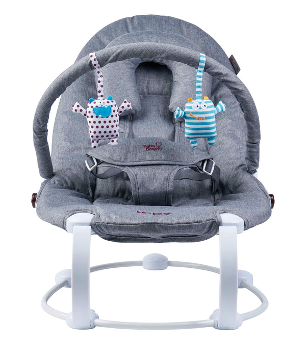 LoBo2 Two Position Baby Bouncer - Grey Melange (4685840023642)