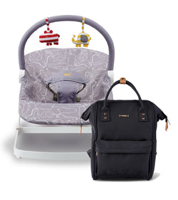 bb113-001-bababing-float-bouncer-grey-and-mani-backpack-black-changing-bag-product-bundle