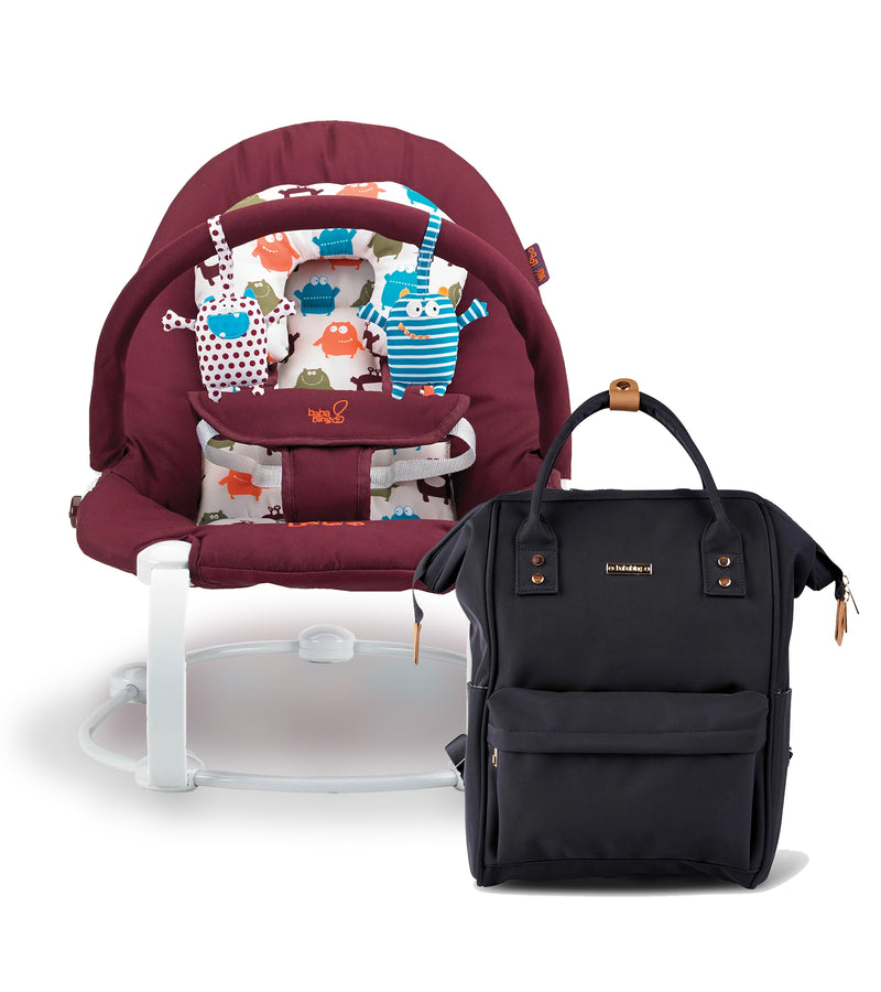 bb107-001-bababing-lobo2-baby-bouncer-little-monsters-and-mani-backpack-changing-bag-black-product-bundle