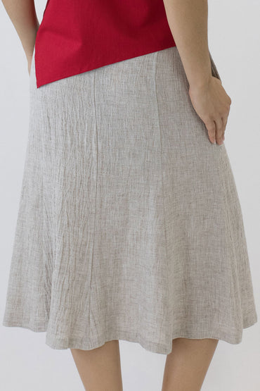 SWING SKIRT-OAKMEAL-BACK