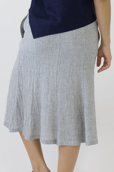 SWING SKIRT-PALE GREY-BACK