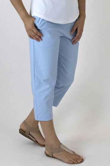7/8 PANTS-Ice Blue-B-01