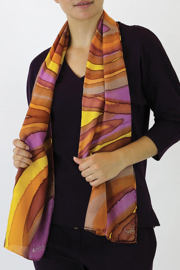 GBR-18 SILK SCARF - yellow Banded Pipefish