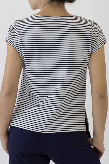 STRIPE CAP SLEEVE TOP PS-04