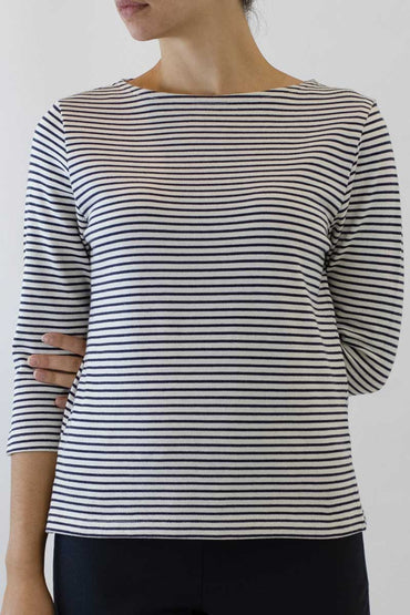 STRIPE BOATNECK TOP PS-06
