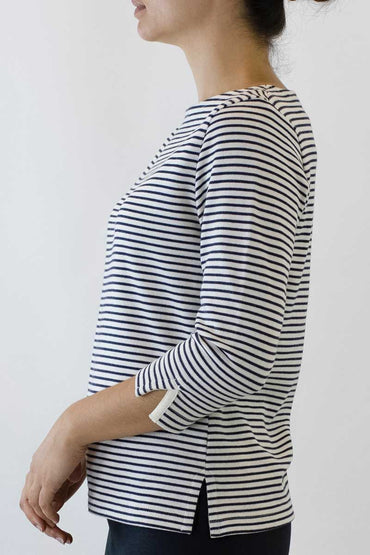 PS-06 : STRIPE BOATNECK TOP