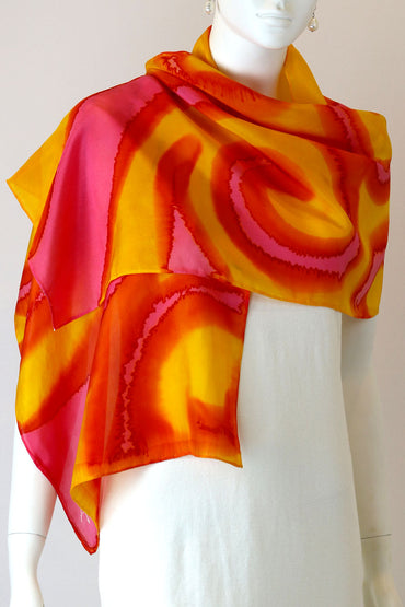 GBR-13 SILK SCARF - Sunrise