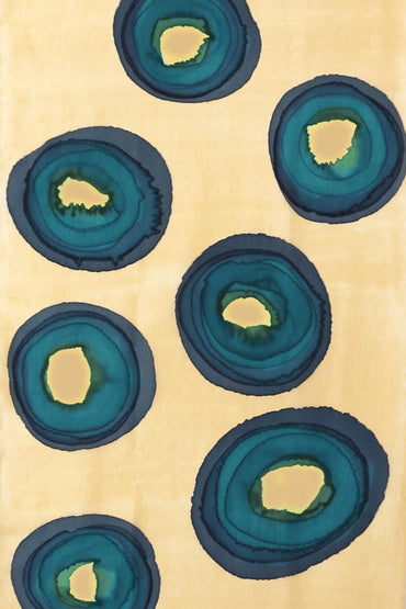 GBR-14 SILK SCARF - Blue Ringed Octopus