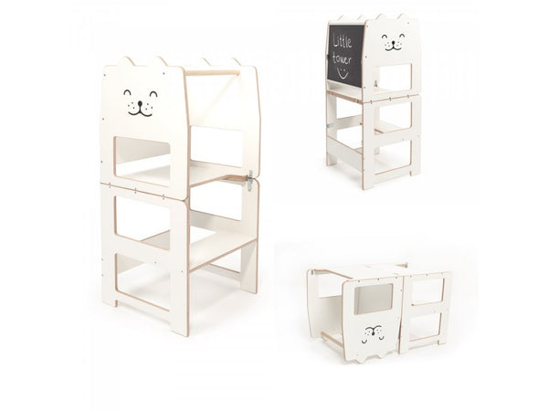 Tour - Tabouret d'apprentissage Chat Blanc - Montessori
