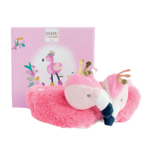 Chaussons hochet Flamant rose 0-6 mois TROPICOOL