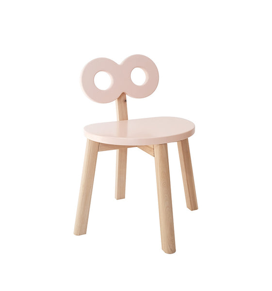 Table Half-Moon + 1 Chaise Double-O - rose/naturel - OOH NOO