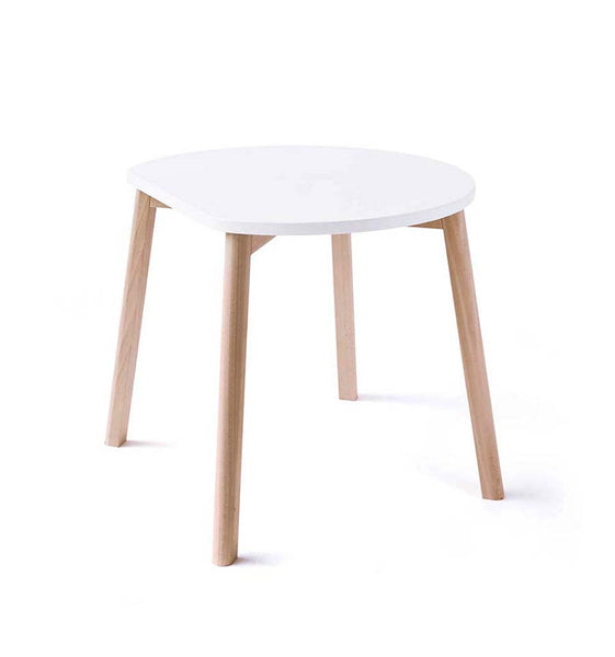 Table Half-Moon + 2 Chaises Double-O - blanc/naturel - OOH NOO