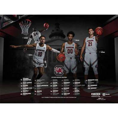 2019 South Carolina Men's Basketball Poster