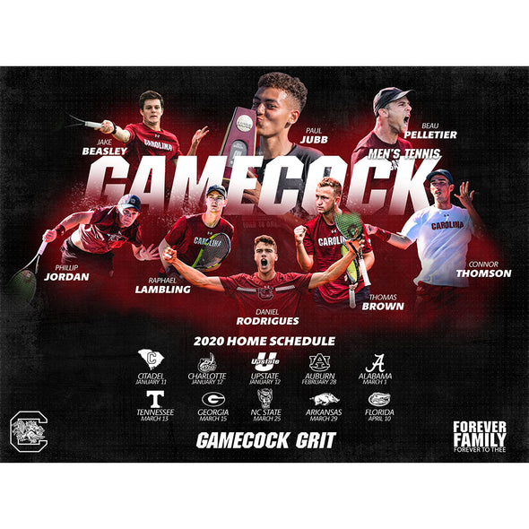 2020 South Carolina Men's Tennis Poster