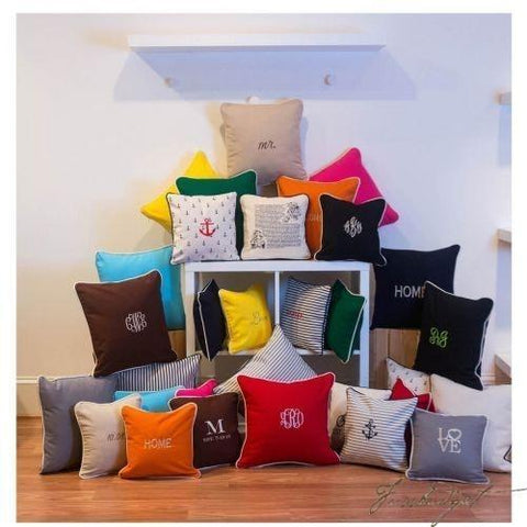 Monogrammed Indoor / Outdoor Pillows