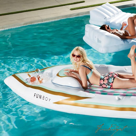 Fun Boy Luxury Pool Floats and Towels