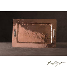Load image into Gallery viewer, Copper Rectangular Tray with Antler Handles-Fussbudget.com