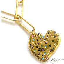 Load image into Gallery viewer, Heart Multicolor Necklace