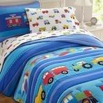 Load image into Gallery viewer, Olive Kids Trains, Planes, Trucks Twin Comforter Set-Fussbudget.com