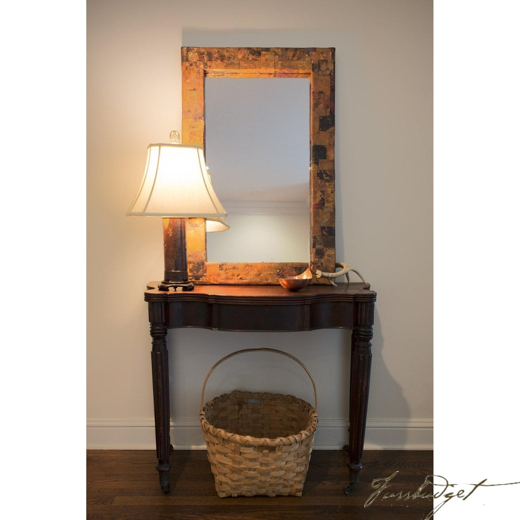 Copper Rectangular Patchwork Mirror-Fussbudget.com