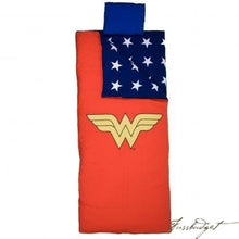 Load image into Gallery viewer, Wonder Woman Sleeping Bag-Fussbudget.com