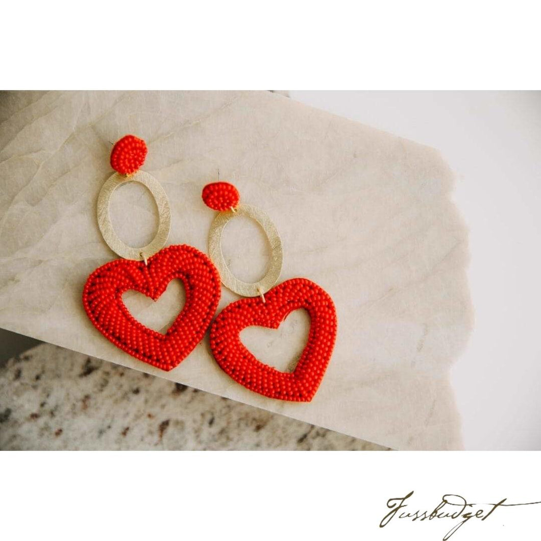Red oval hearts