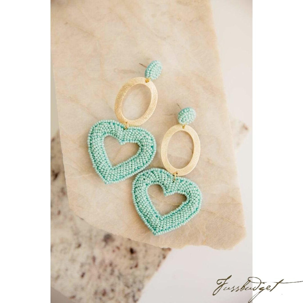 Blue Oval Hearts