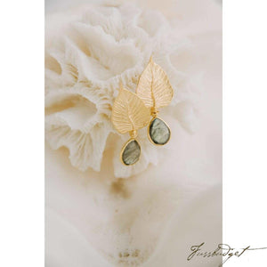 Labradorite Gold Leaves