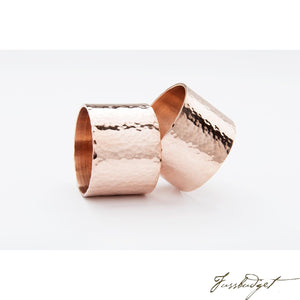 Copper Planished Napkin Ring-Fussbudget.com