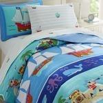 Load image into Gallery viewer, Olive Kids Pirates Full Comforter-Fussbudget.com