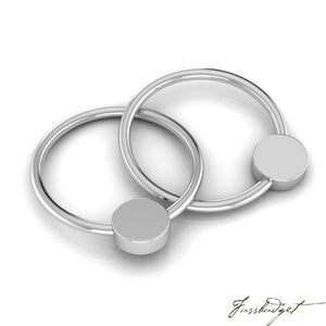 Sterling Silver Flat 2 Ring Teether Rattle-Fussbudget.com