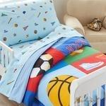 Load image into Gallery viewer, Olive Kids Game On Toddler Comforter-Fussbudget.com